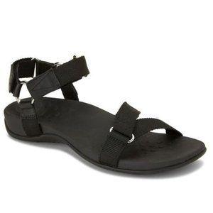 Vionic Candace Adjustable Strap Black Sandals